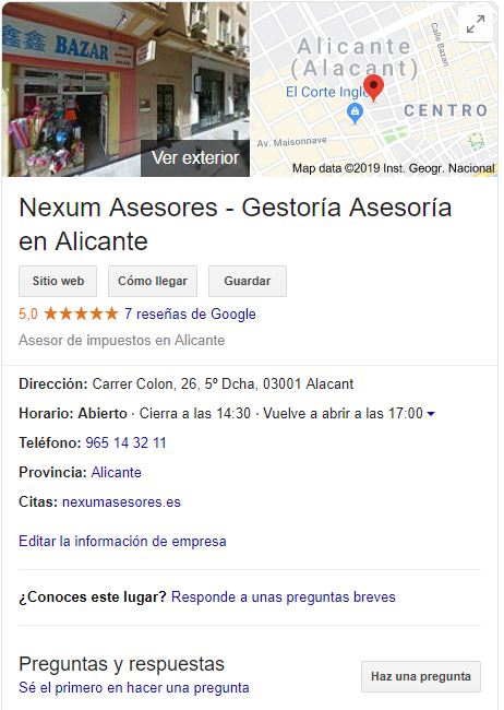 busqueda local google maps